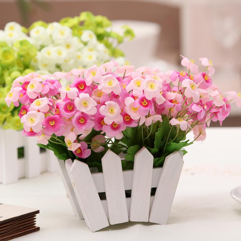 ... 花装饰花木栅栏套装批发 欧式田园风 茶几摆放绢花