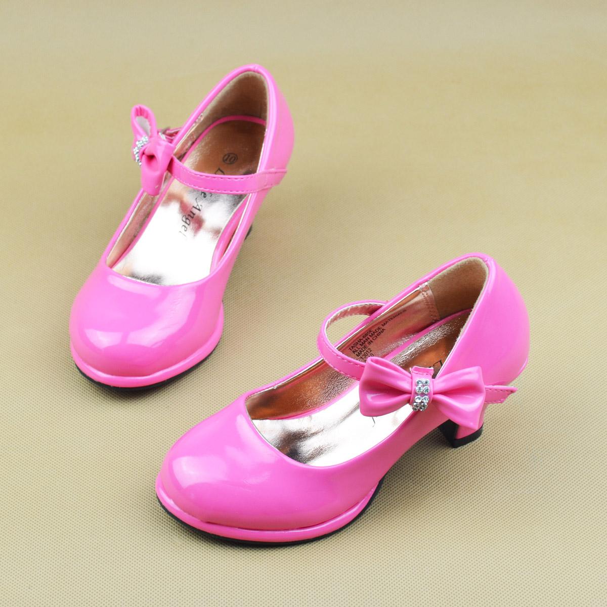 儿童皮鞋女童高跟鞋_女童高跟鞋公主鞋_女童
