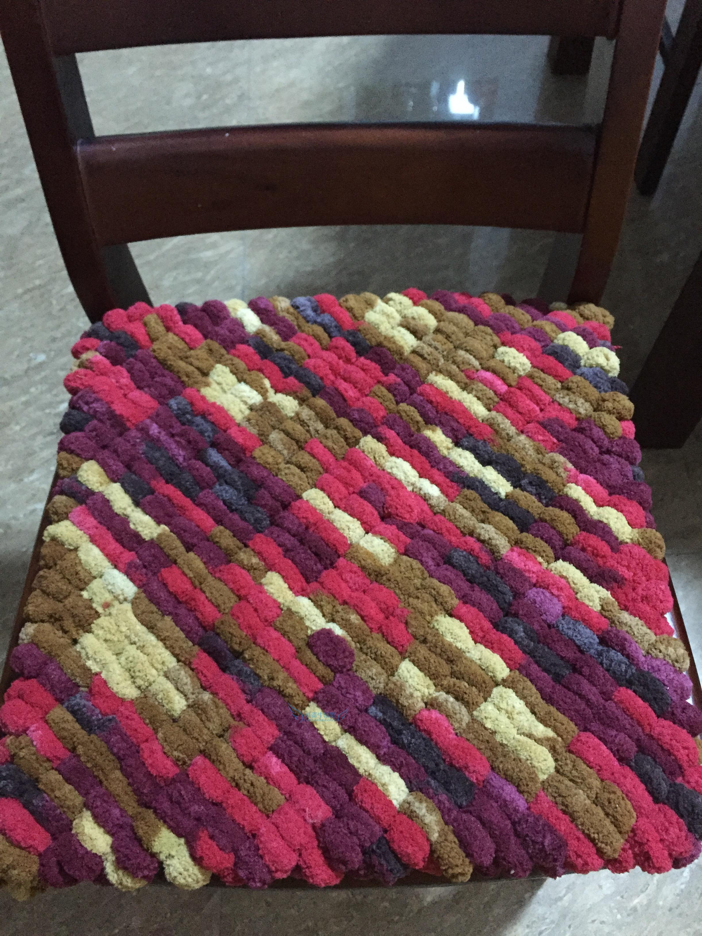 纯手工编织毛线球家庭沙发坐垫 汽车坐垫 座椅垫