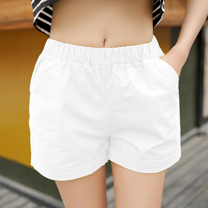 纯棉短裤女夏季2015新款宽松外穿高腰休闲女裤子韩版显瘦大码热裤