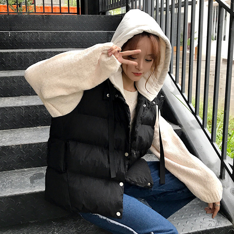 小棉衣女短款背心袄子韩版学生2017纯棉马甲棉夹夹女款无袖冬装潮