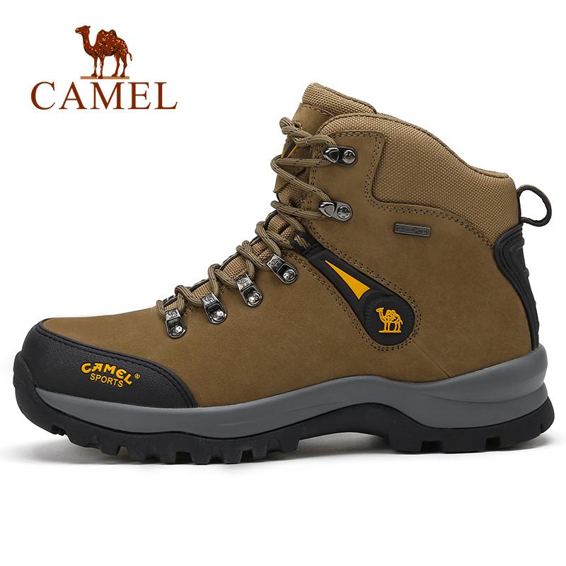 骆驼户外高帮登山鞋男徒步鞋 秋季头层牛皮防水耐磨户外鞋男鞋子