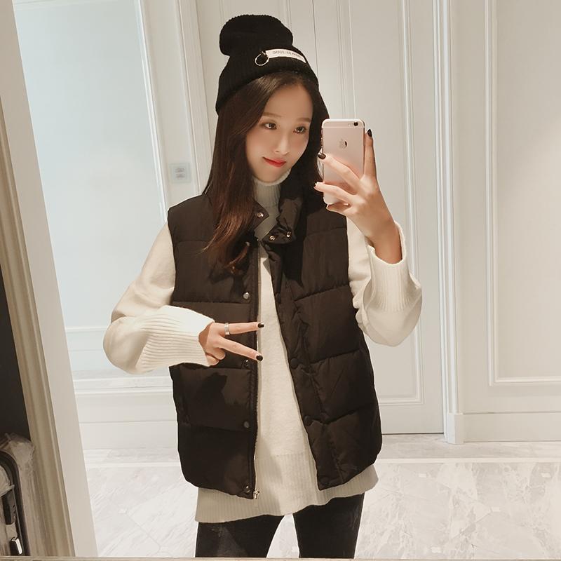 2017新款chic棉马甲女冬季韩版加厚袄子背心短款学生外套马夹坎肩