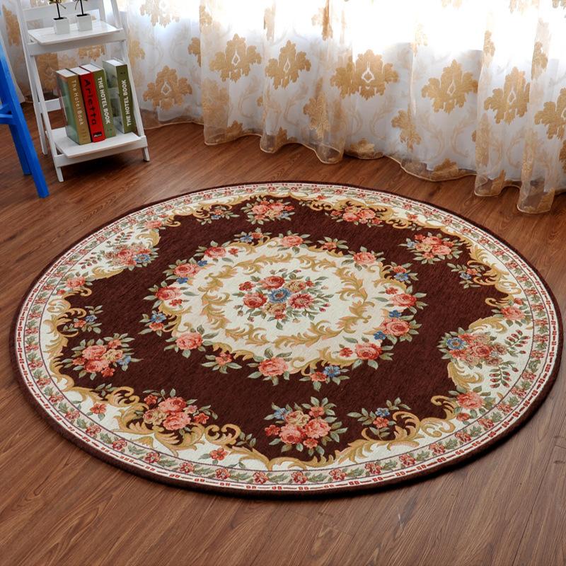 欧式圆形地毯电脑椅垫 书房卧室客厅地毯 高档摇椅圆毯嘉博朗正品