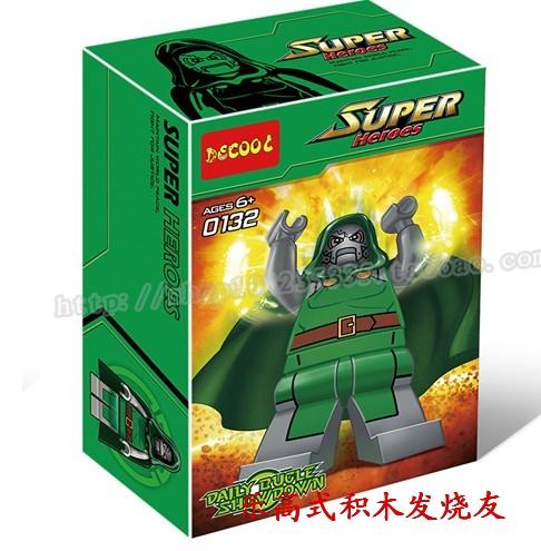 得高superhero乐高式玩具超级英雄系列公仔末日博士0132