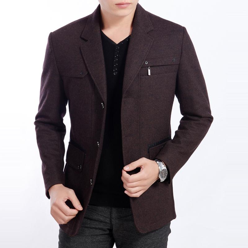 男生休闲西装外套_休闲西服 卡奥2014新款羊绒小西装 修身中年男士春装 西装外套