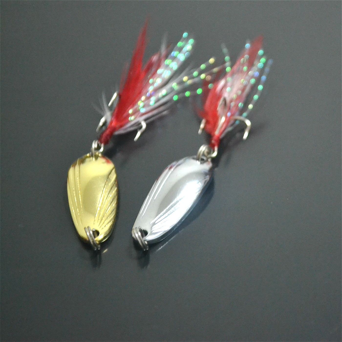 贝壳勺型路亚亮片2.5-13克翘嘴马口白条鲶鱼 铁板金属假饵拟饵