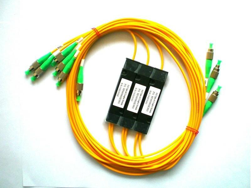 CATV有线电视专用光分路器 一分二光分路器FC/APC 1X2光分路器