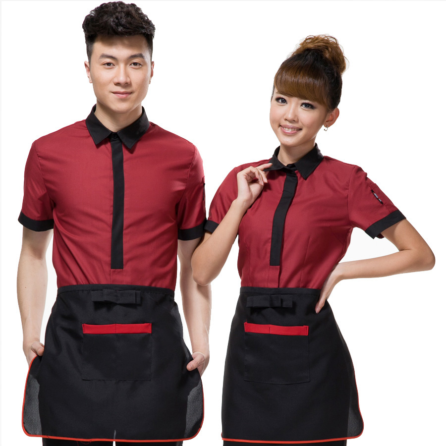 酒店工作服短袖 女夏装高级西餐厅咖啡馆ktv会所前台服务员服装新图片