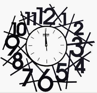 涛娜时尚地中海金属电池钟表挂钟 时钟 壁钟 装饰钟 客厅 挂表图片