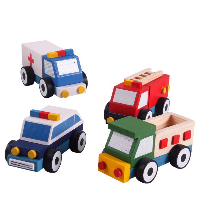 拼装玩具车_拼装积木套装 木制拆装拼装工程车 儿童益智玩具小汽车 1-2岁