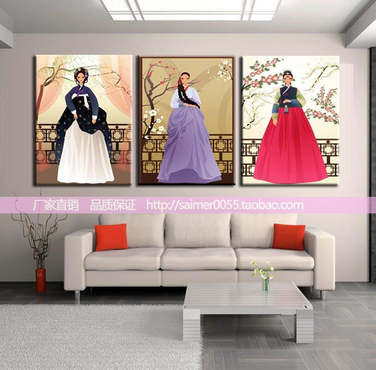 日本寿司料理挂画 韩国挂画 韩国餐厅挂画