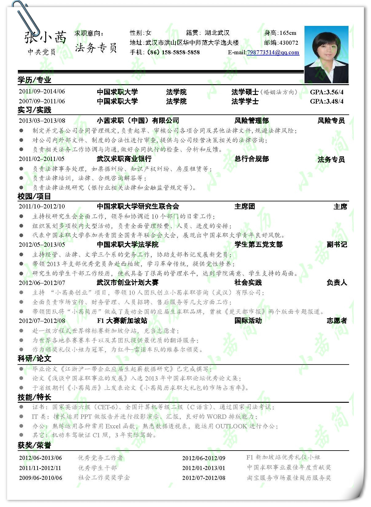 this cv resume image from