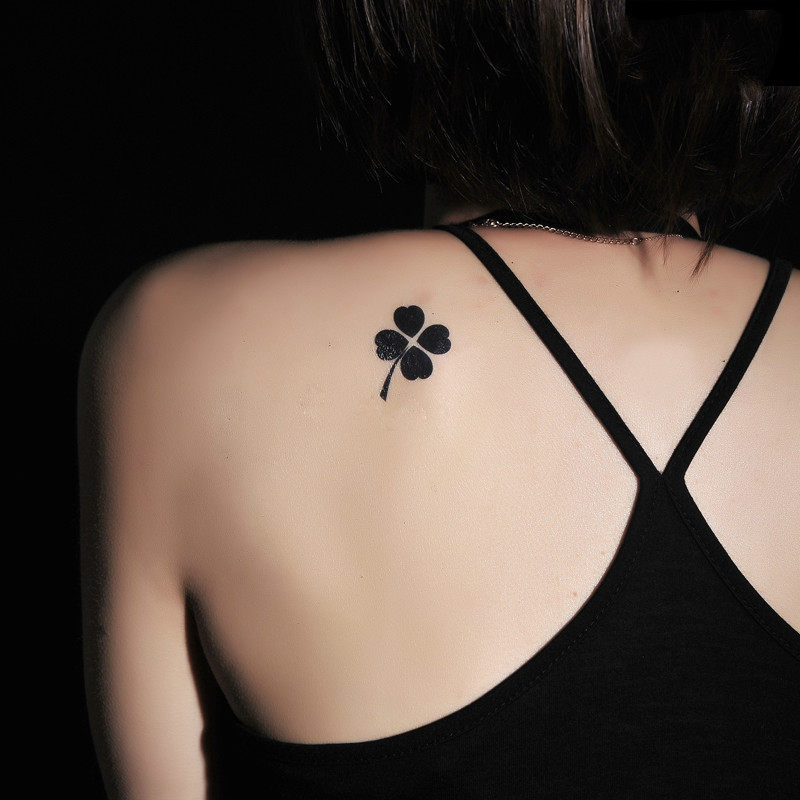 19件包邮爱心四叶草纹身贴幸运草清新花朵个性时尚男女 刺青防水图片