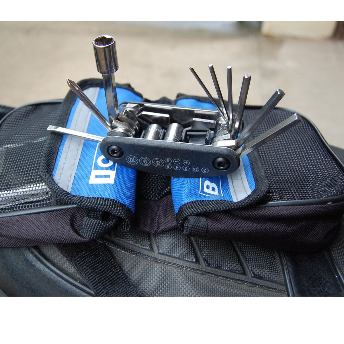手工扒摩托车带工具_15合一内六角工具修车工具 WOZ1 摩托车踏板车电动车修补改装工具