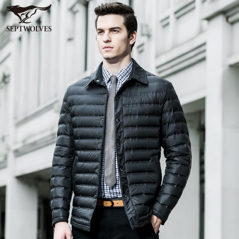 七匹狼羽绒服 男士轻薄外套 男装正品 2015冬装新款保暖羽绒 1417