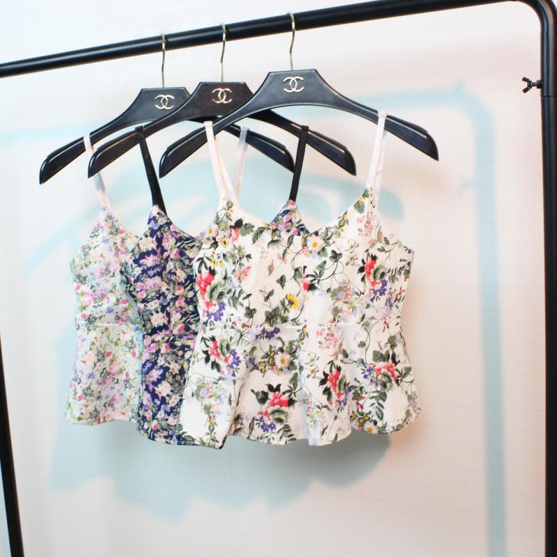 2015夏季新款 韩版性感露脐吊带短款抹胸裹胸上衣背心打底衫女