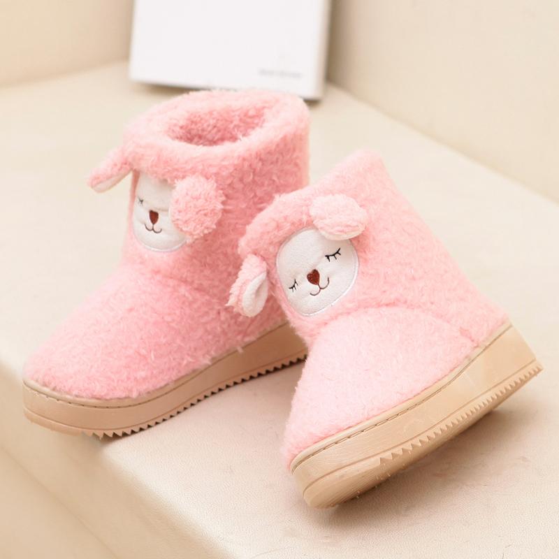 2014雪地靴女冬季中筒靴平跟防水台韩版女靴休闲纯色保暖学生女鞋
