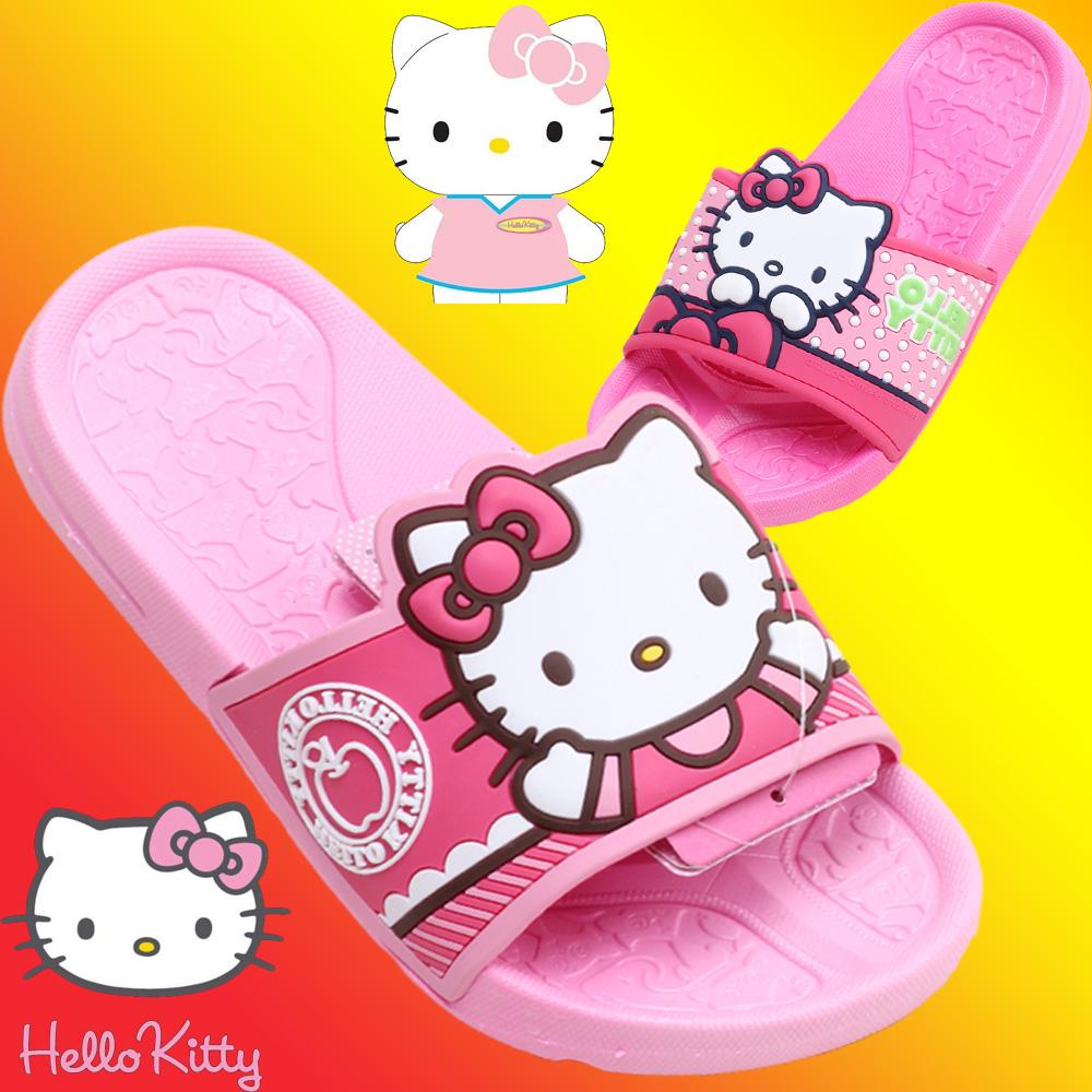 Hellokitty凯蒂猫夏款儿童童鞋女童凉拖鞋宝宝沙滩凉鞋家居凉拖鞋