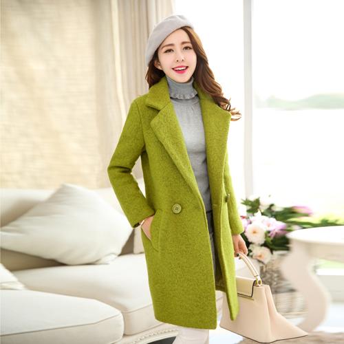 红松女装艾米子萱羊毛大衣2015秋冬装新款艾玛莉大码毛呢外套快鱼