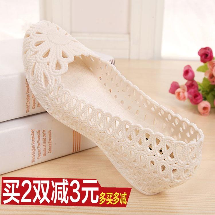 夏季鸟巢包头塑料凉鞋女白色护士鞋小坡跟洞洞鞋舒适孕妇鞋妈妈鞋