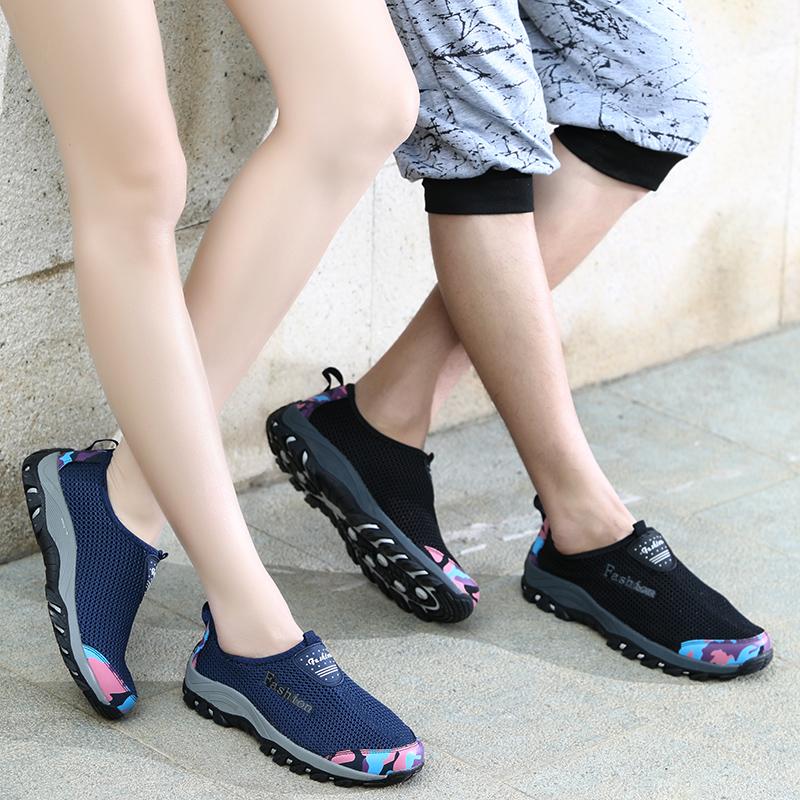 2015新品夏季网面运动风休闲鞋男女鞋透气网鞋情侣轻便单鞋跑步鞋