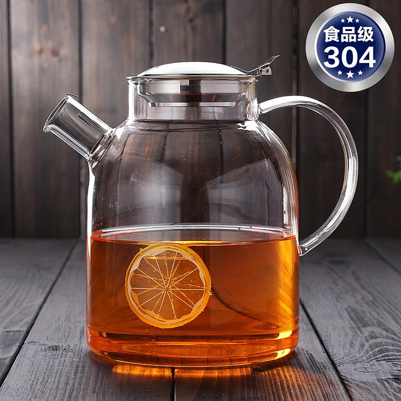 博颖耐高温玻璃茶壶透明大号茶水壶冷水壶茶具套装家用简约泡茶壶