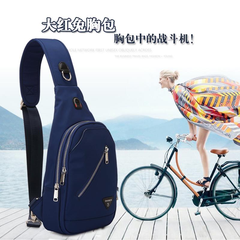品牌防水男包户外尼龙帆布牛津布包前单肩斜挎胸包腰包运动小背包