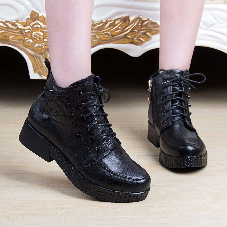 松糕皮鞋女厚底韩版_厚底松糕鞋女潮皮鞋_松