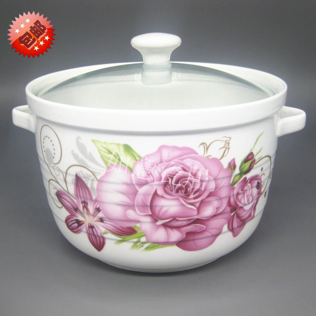 特大号陶瓷保鲜碗 双耳带盖大汤碗面碗粥碗 陶瓷保鲜盒饭盒储物罐