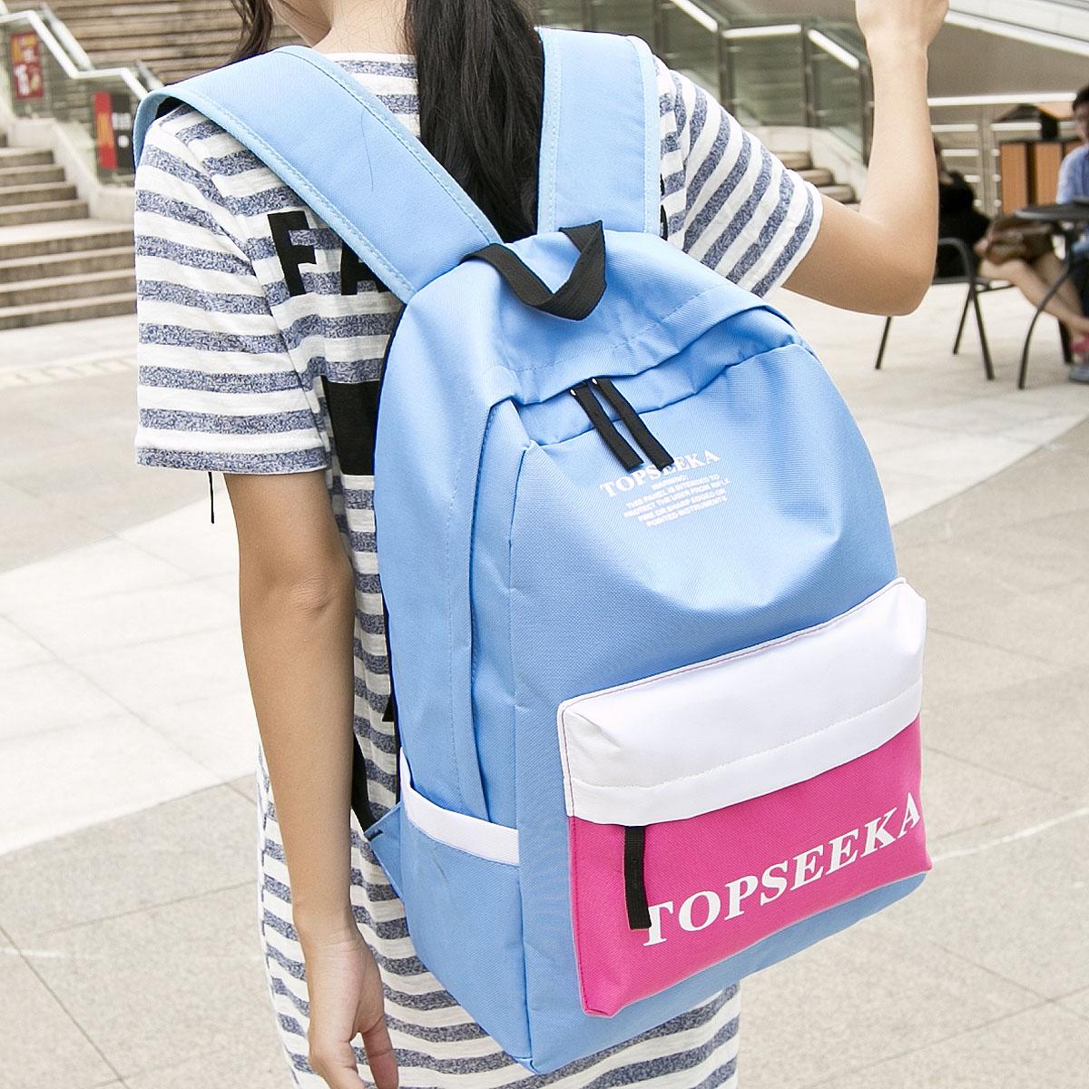 2015韩版新款时尚背包男包书包中学生双肩包女包潮流学院风旅行包