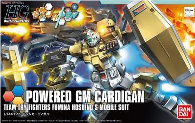 万代正品 高达模型 HGBF 019 1/144 Powered GM 重装型 强力吉姆