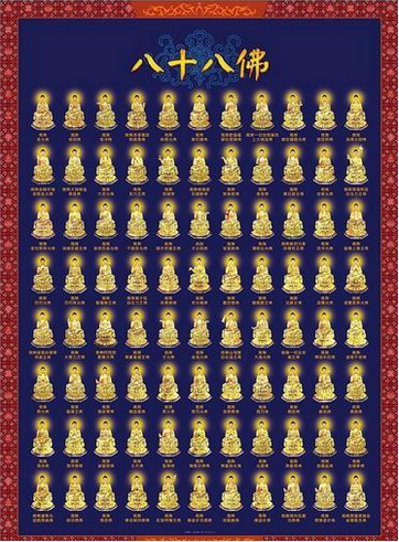佛像结缘 八十八佛大忏悔文 A4大小