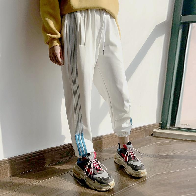 ins超火的裤子春夏女运动裤休闲哈伦裤校服裤潮学生嘻哈街舞长裤