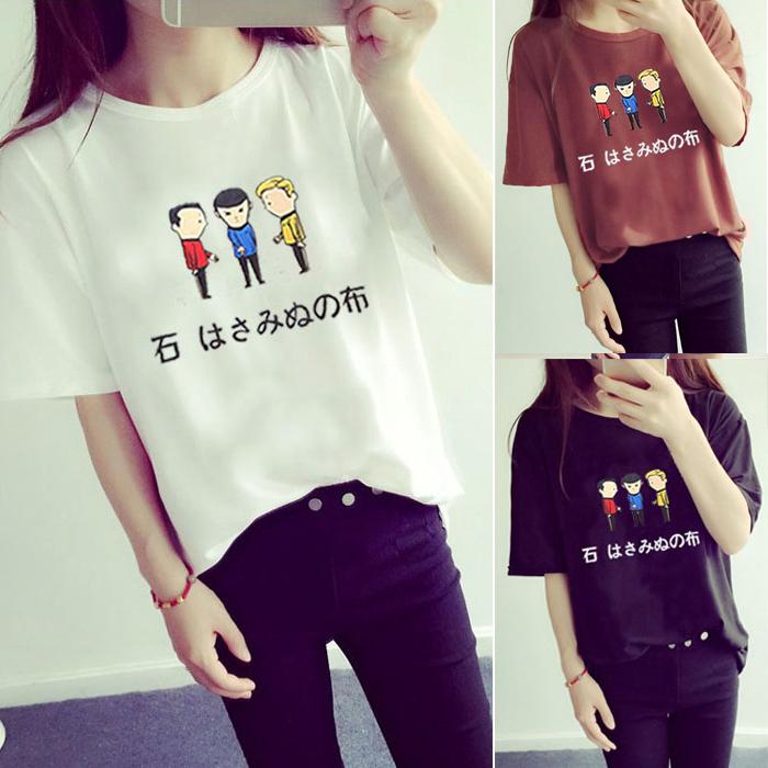 韩版新款夏装纯棉大码宽松学生姐妹短袖T恤女百搭半袖上衣短袖潮