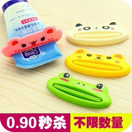 1156 韩国新款创意可爱卡通手动挤牙膏器 多功能洗面奶挤压器