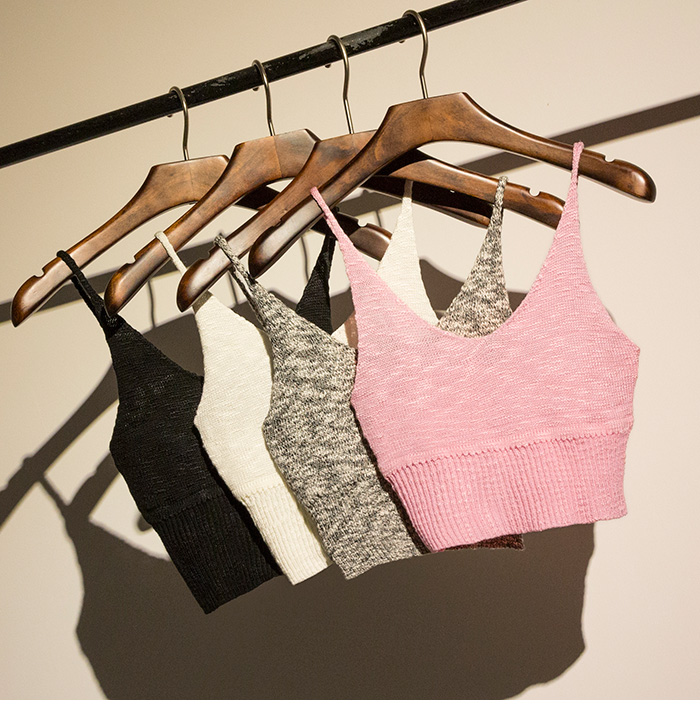 2014欧美复古AA风无袖针织短款露脐t恤百搭修身吊带内搭小背心