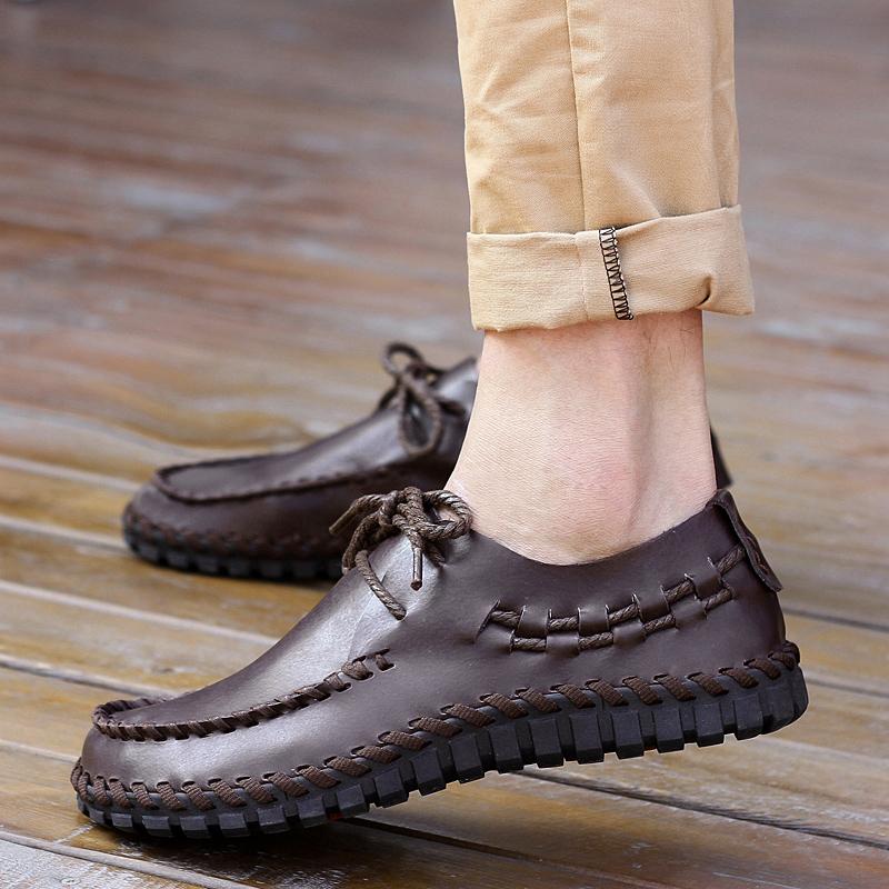 圣地威正品保罗盖帝帝国烟斗亨达巴谷男鞋2015新款透气休闲鞋皮鞋