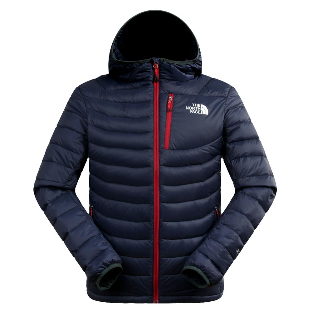 冬装乐斯菲斯TNF北面户外正品羽绒服男式短款连帽北脸男士轻薄款