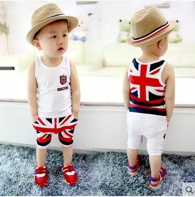 2015韩潮新款 童装 夏 男童女宝宝婴儿童短袖套装衣服0-1-2-3-4岁