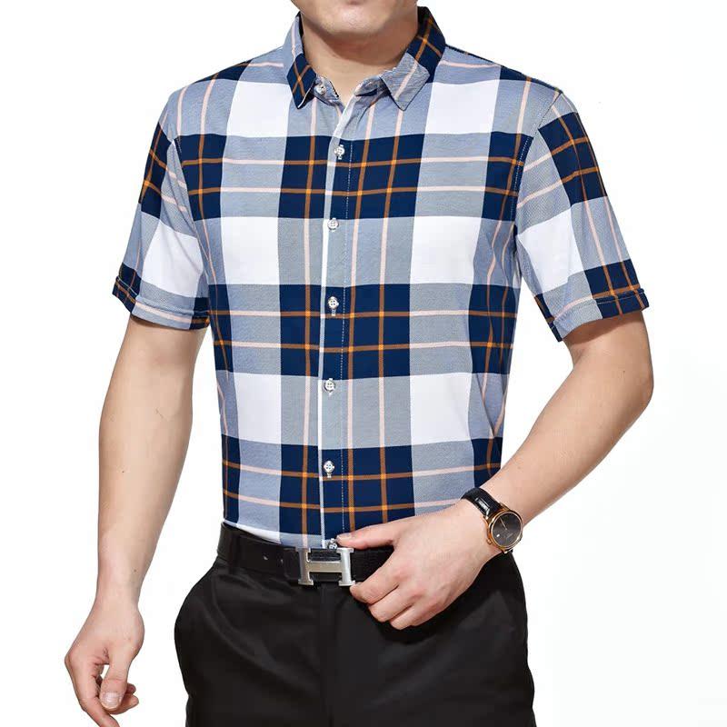 新郎希努尔entong2015伟志衬衣名鹰男装旗舰店正品短袖衬衫马基堡