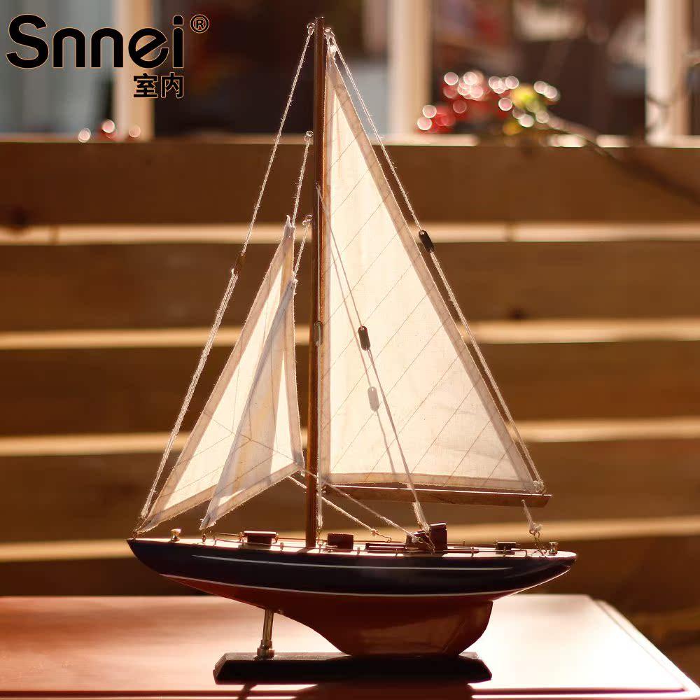 室内 凯德号帆船模型摆件 小木船模型船 一帆风顺工艺船FC-4