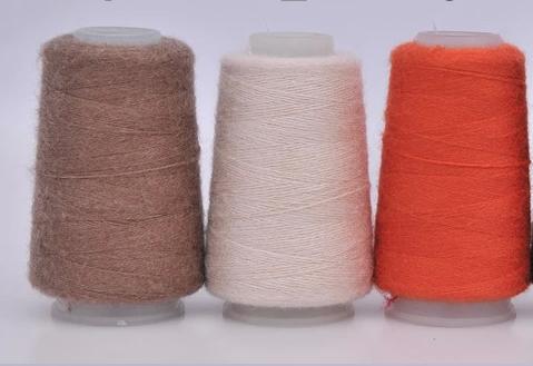 弹力貂绒伴侣线 恒源祥羊绒线毛线 弹力山羊绒线手编貂绒6+6配线