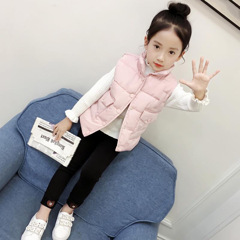 女童棉马甲冬装新款韩版公主宝宝春秋加厚背心儿童外穿羽绒棉坎肩