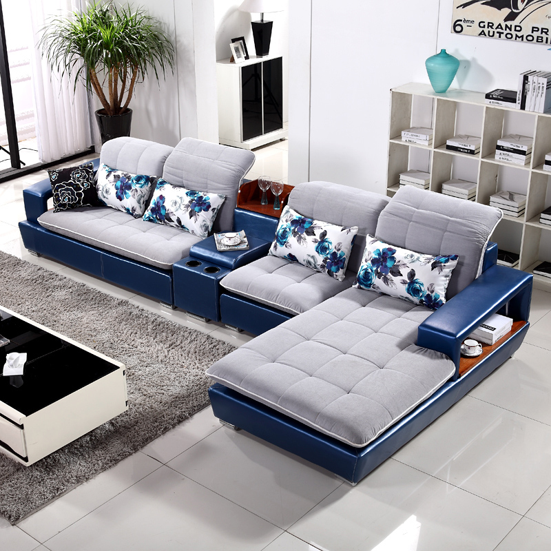 皮布结合沙发图片_沙发设计家居艺术