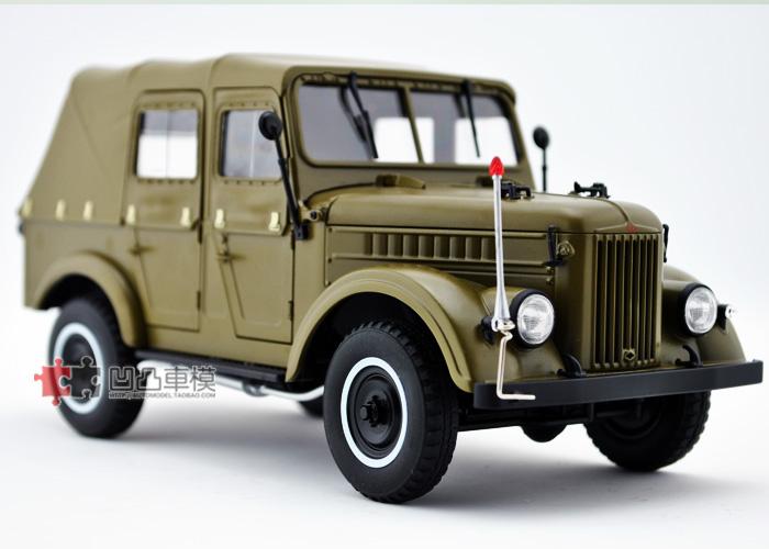 中国勇士突击军车_国产原厂 1:18 苏联军车 吉普越野 嘎斯69 GAZ 硬顶 合金汽车模型