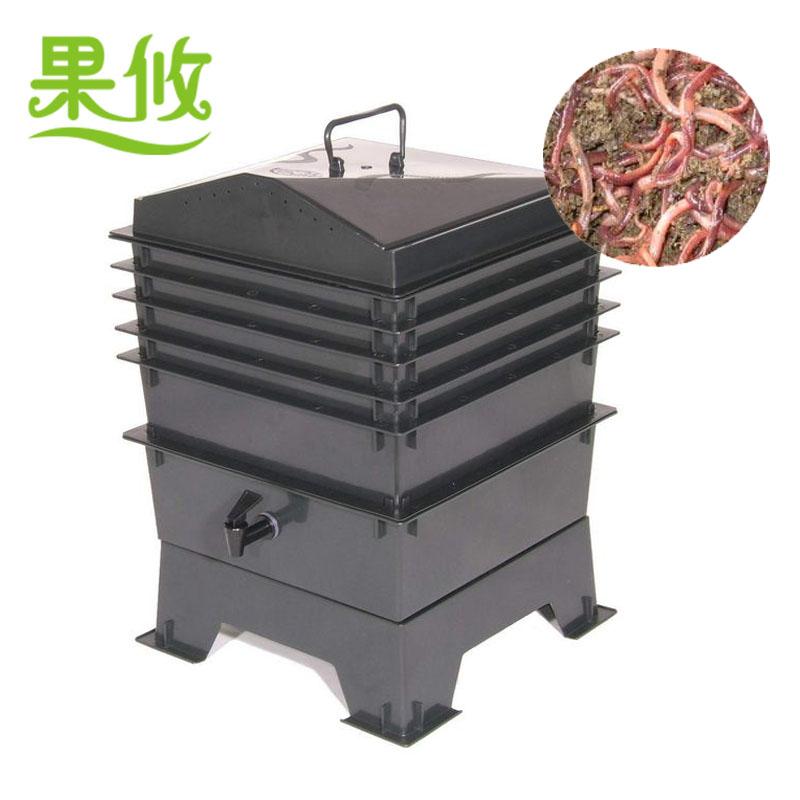 厨余蚯蚓堆肥箱图片