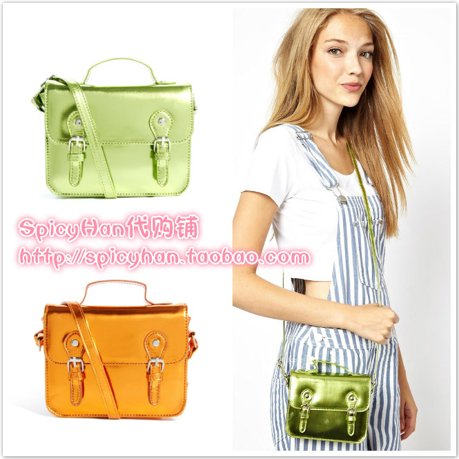 Ӣ��ASOS�����^mini satchel ����ӫ��ɫ���������ʲ���Ű�