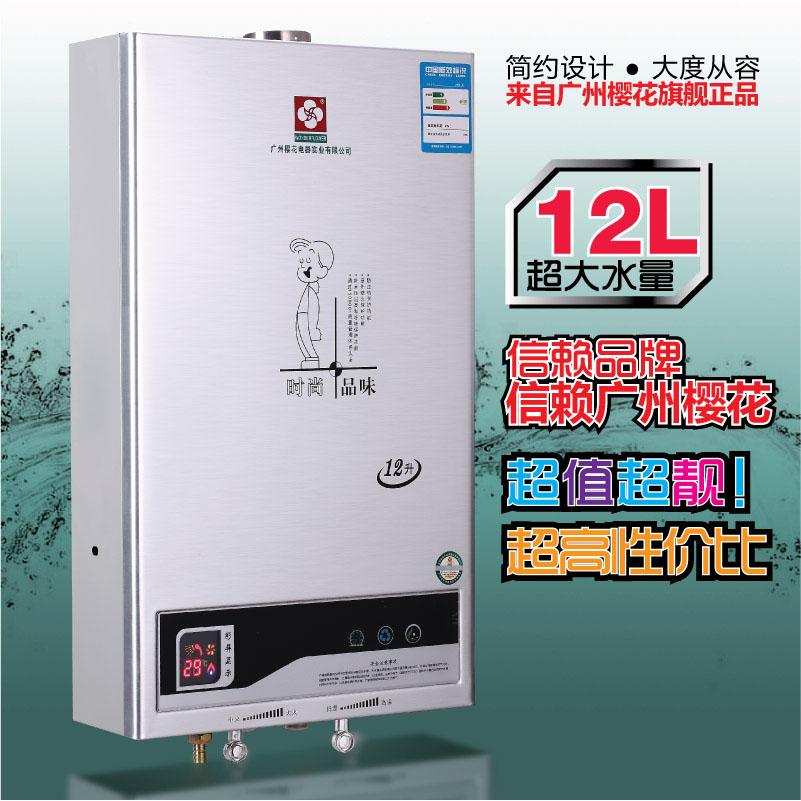 正品广州樱花燃气热水器 强排式热水器 天然气液化气热水器10l12l图片