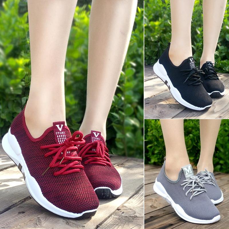 春季新款女单鞋老北京布鞋女单鞋防滑运动休闲鞋系带平底妈妈鞋